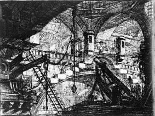 Las Cárceles Imaginarias, lámina XI (La Carceri d'Invenzione). Giovanni Battista Piranesi. Roma. 1761. (Fuente: Wikimedia)