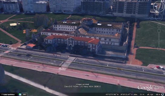carcel coruna google earth 01
